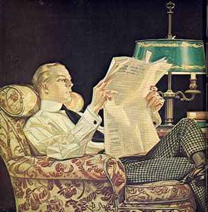 PFS vintage newspaper