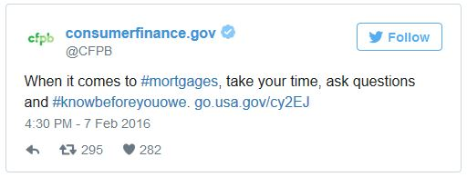 cfpb rocket mortgage tweet
